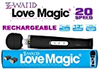 Holiday Bundle: Z Wand Love Magic Multipurpose Black Original Therapeutic Massager USB - Hitachi Style 20 Speed Patterns, Quiet Vibrations - Steady & Pulsating, Silicone Massage Head, Flexible Neck, Maximum Pleasure -13 Length, Strong Motor for Neck & Shoulder for Men, Women and Couples PLUS Christmas Special Includes: One Bottle of 2 oz Z Lube Aqua & Exclusive Matching EnerZ Dual USB wall charger 2.4-Amp + 1-Amp (17 Watt) with USA Plug Designed For Apple iPhone 6+ 6 5 5S and 5C iPad Mini Ipad And Android Galaxy Note 2 3 Tablet Devices - 100% NO Questions, NO Hassle 90 Day Guarantee