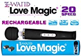 """Holiday Bundle: Z Wand Love Magic Multipurpose Black Original Therapeutic Massager USB - Hitachi Style 20 Speed Patterns, Quiet Vibrations - Steady & Pulsating, Silicone Massage Head, Flexible Neck, Maximum Pleasure -13"""" Length, Strong Motor for Neck & Shoulder for Men, Women and Couples PLUS Christmas Special Includes: One Bottle of 2 oz Z Lube Aqua & Exclusive Matching EnerZ Dual USB wall charger 2.4-Amp + 1-Amp (17 Watt) with USA Plug Designed For Apple iPhone 6+ 6 5 5S and 5C iPad Mini Ipad And Android Galaxy Note 2 3 Tablet Devices - 100% NO Questions, NO Hassle 90 Day Guarantee"""