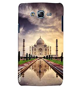 Omnam World First Wonder The Taj Mahal Printed Desinger Back Cover Case For Samsung Galaxy J5