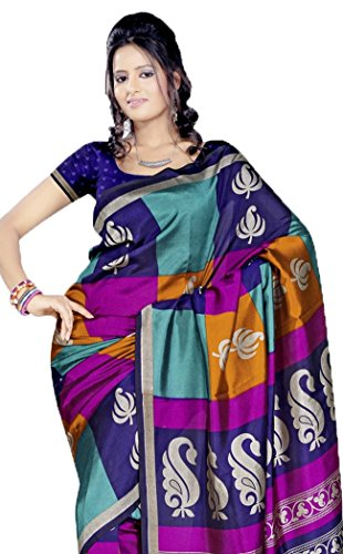 Sudarsahan Silks Fancy Sarees-Multicolor-Ssm18145-Art Raw Silk
