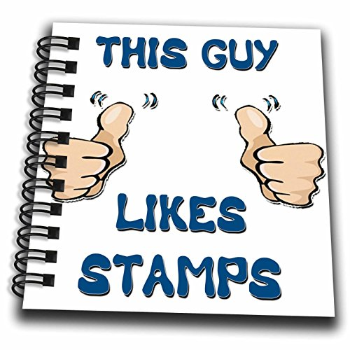 Blonde Designs This Guy Likes With Thumbs - This Guy Likes Stamps - Mini Notepad 4 x 4 inch (db_150476_3)