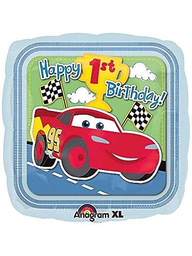 Disneys Cars 1st Birthday Champ Foil Balloon - 1