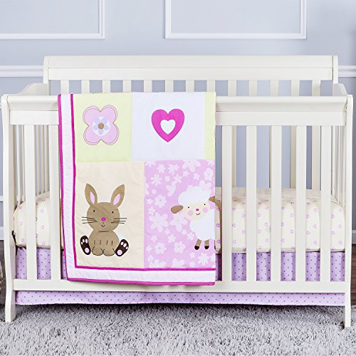 Dream On Me Naptime Friends 3 Piece Reversible Full Size Crib Bedding Set - 1