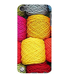 ColourCraft Colourful Wool Design Back Case Cover for APPLE IPOD TOUCH 5