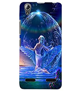 ColourCraft Beautiful Angel Design Back Case Cover for LENOVO A6000