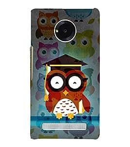 Girl ka Ullu Owl 3D Hard Polycarbonate Designer Back Case Cover for YU Yureka AO5510
