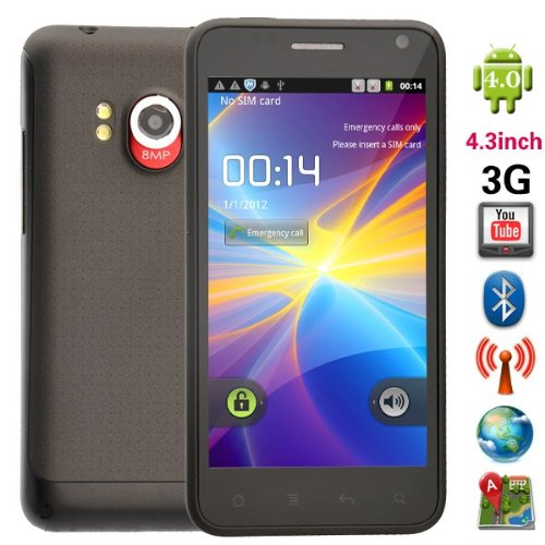 Link to DUAL SIM ANDROID 4.0 3G 4.3inch SMART PHONE WIFI GPS 8MP CAMERA+8GB micro sd card+car charger Big SALE
