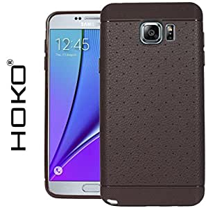 Galaxy Note 5 Case, HOKO® Honey bee Case Cover for Samsung Galaxy Note 5 (Brown) Grip Tpu Soft Hybrid Back Case Cover Bumper Leather Touch & feel