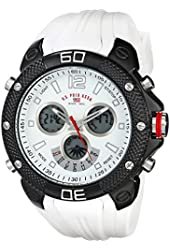 U.S. Polo Assn. Sport Men's US9495 Analog-Digital Display Analog Quartz White Watch