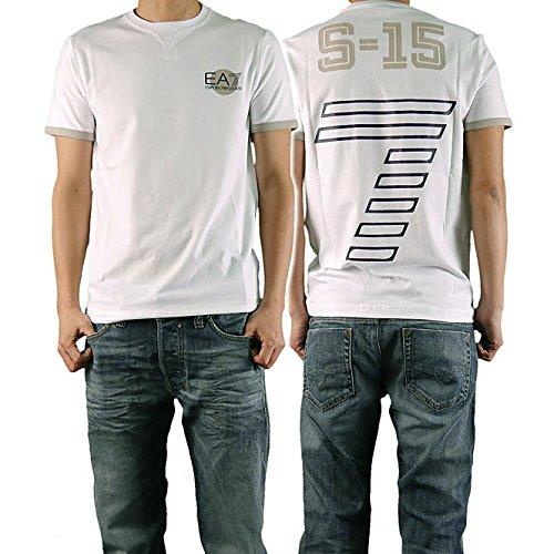 (エンポリオアルマーニ)EMPORIO ARMANI EA7 メンズクルーネックTシャツ 273795 5P108 ホワイト [並行輸入商品]