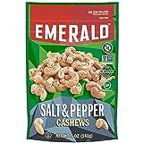 Emerald Sea Salt & Pepper Cashews, 5 oz Pack, 6/Carton (Tamaño: Package size of 5.5 oz)