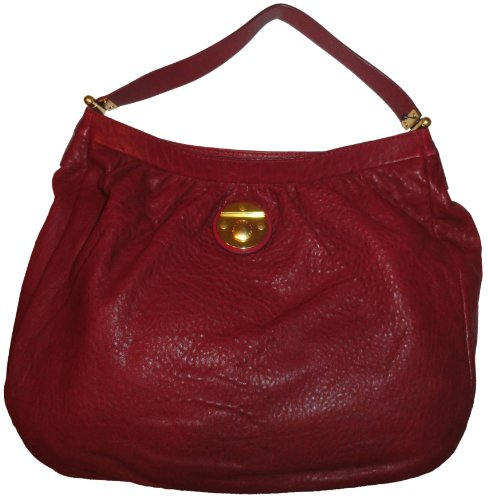 Marc Jacobs Women's Marc Jacobs Leather Purse Handbag Hobo Wine