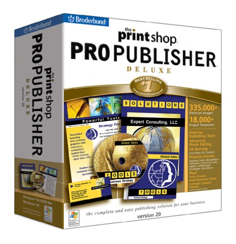 The Print Shop 20 Pro Publisher DeluxeB00009APND