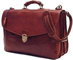Floto Leather Briefcase Attache Messenger Bag