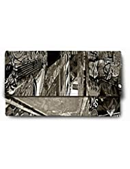 Sleep Nature's Graffiti Walls Black And White Printed Ladies Wallet