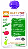 HAPPYBABY Happy Tot - Spinach, Mango and Pear, 4.22  Ounce Pouch (Pack of 16)