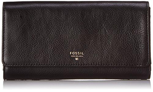 Fossil Sydney Flap Wallet, Black, One Size