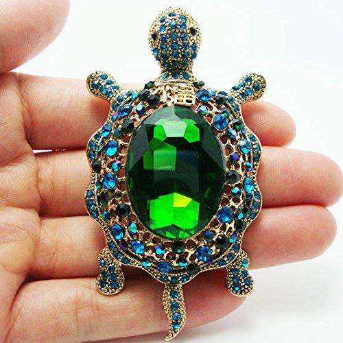 TTjewelry Vintage Style Tortoise Crystal Brooch Turtle Rhinestone Pin Classic Woman Animal Decorative Jewelry 1
