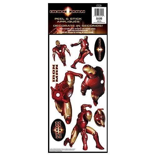 RoomMates RMK0101SS Iron Man Peel & Stick Single Sheet