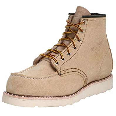 Red Wing Heritage Men's Classic Work 6-Inch Moc Toe Boot - Suede,Abilene Roughout,12 D US