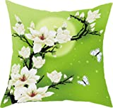 Moonlight Magnolia 3D Stamped Cross Stitch Cushion