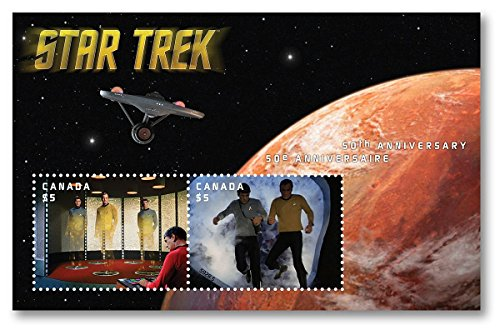 Star Trek 50th Anniversary - Lenticular Souvenir Sheet (Animated Stamps) - Captain Kirk, Spock and Doctor Leonard