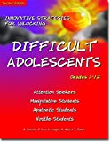 img - for Innovative Strategies for Unlocking Difficult Adolescents: Grades 7-12 book / textbook / text book