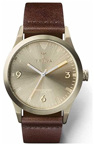 Triwa Unisex Champagne Dial Brown Strap LAST119-CS010417