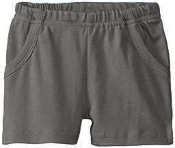 L\'ovedbaby Unisex-Baby Newborn Organic Shorts, Gray, 6/12 Months