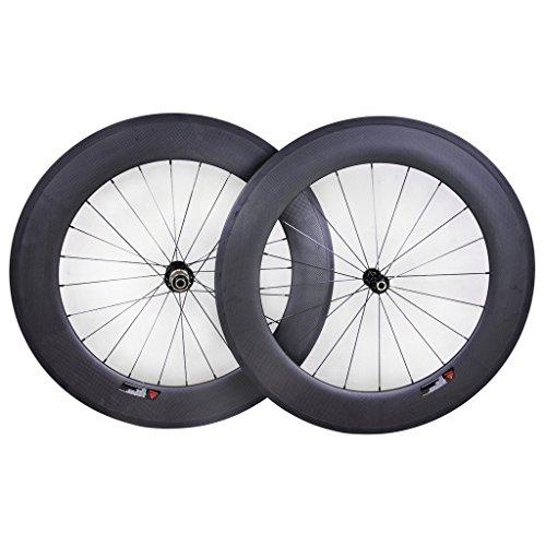 Winicebikes-88mm-Rennrad-Laufrder-Clincher-Tubeless-Superleicht-Basalt-Brake-Rim-Sapim-CX-Ray-Speiche
