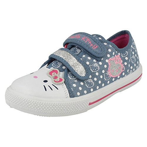 Hello Kitty - Sandali con Zeppa da ragazza' , multicolore (Navy Multi), 33 EU