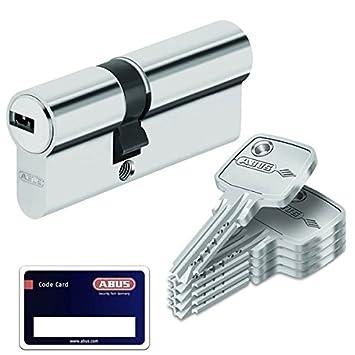Abus EC550 Cylindre /à bouton livr/é avec 5 cl/és Longueur Z30//K30 mm