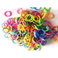Ateam 600 Pieces Various Color Selection Loom Bandz with 25 Clips (1 Hook for Metallic Color & Tie Dye) (Muliti color)