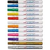 Sanford Uni-Paint PX-21 Oil-Based Paint Marker, Fine Point, Assorted Colors, 12-Pack (63721)