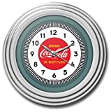 Trademark Coca-Cola 11.75-Inch Diameter Clock with Chrome Finish - 1930s Style