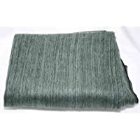 Super Soft 100% Alpaca Wool Reversible Throw Blanket Soft Blue and Green Mixture Black Background