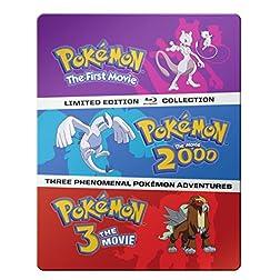 Pokémon: The Movies 1-3 Steelbook Blu-ray Collection [Blu-ray]