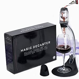 Ensemble complet Magic Decanter - Aérateur à vin de luxe avec support et socle - Décanteur à vin