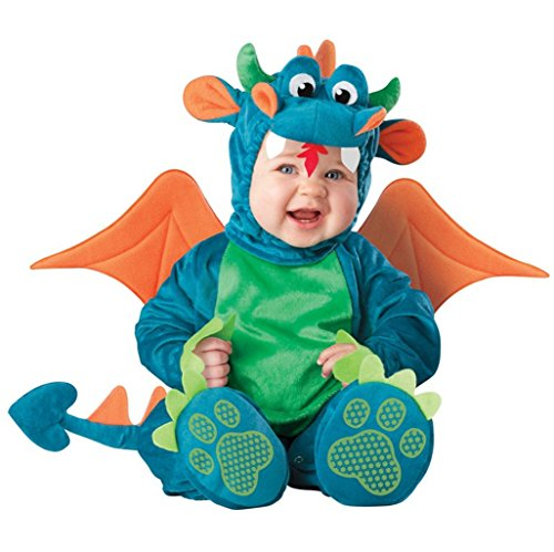 [Sunday Baby Character Dinky Dragon Costume Outwear Pajamas S] (Dinky Dragon Baby Costumes)