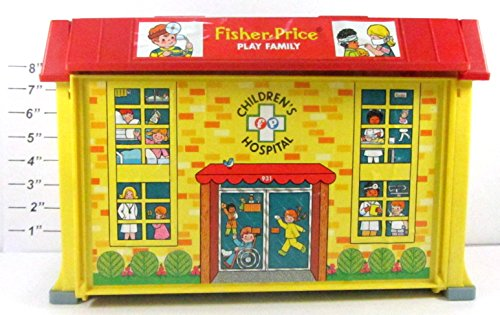 Vintage Fisher-Price Little People Play Family - Children's Hospital Play Set #931 (Loose-No Packaging)