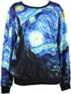 Injoy Neon Galaxy Cosmic Colorful Patterns Printing Sweatshirt