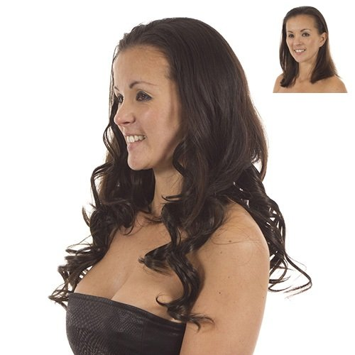 Volu Curl Clip in Hair Extensions | Full Head 5 Weft Extensions | Coco Brown
