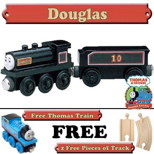 Douglas from Thomas The Tank Engine Wooden Train Set - Free 2 Pieces of Track & Free Thomas the Tank Engine