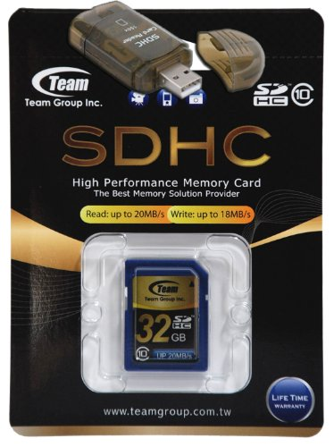 32GB Class 10 SDHC Team High Speed Memory Card 20MB/Sec. Fastest Card in the Market For OLYMPUS PEN E-P1 PEN E-P2. A free High Speed USB Adapter is included. Comes with Lifetime Warranty.