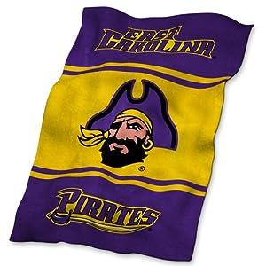 East Carolina Pirates NCAA UltraSoft Fleece Throw Blanket by Logo Chair