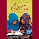 Three Cups of Tea: Young Readers Edition (       UNABRIDGED) by Greg Mortenson Narrated by Atossa Leoni, Vanessa Redgrave