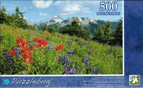 "Puzzlebug ""Field of Wildflowers, Garibaldi"" 500 Piece Jigsaw Puzzle by LPF - 1"