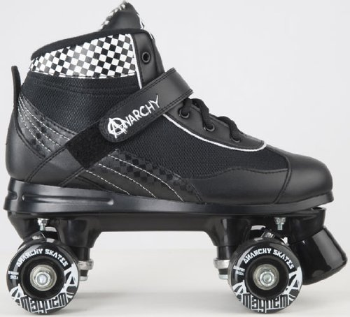 Anarchy Mayhem Derby Roller Skates Black/White UK 7