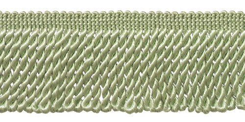 2.5 Inch Bullion Fringe Trim, Style# EF25 Color: Pale Jade - G12, Sold By the Yard