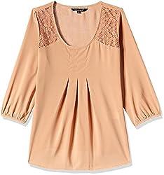 Harpa Women's Body Blouse Shirt (GR3160-BEIGE_L)